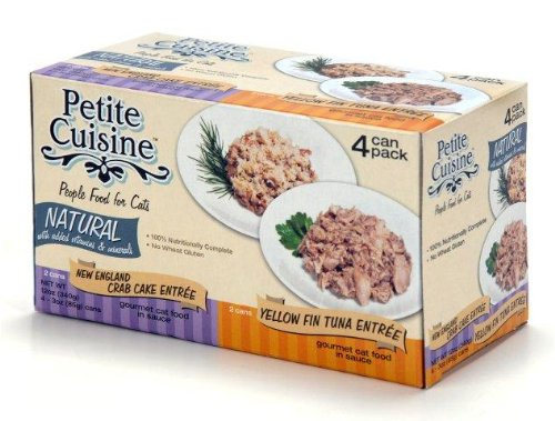 Petite Cuisine NE Crab and Yellow Fin, 6 – 4 pack boxes per case., My Pet Supplies