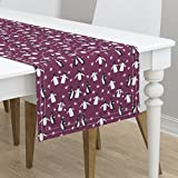 Table Runner - Penguin Fancy Dance Top Hat Animals Whimsical by Robyriker - Cotton Sateen Table Runner 16 x 108