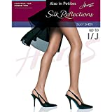 Hanes Womens Set of 3 Silk Reflections Control Top Sheer Toe Pantyhose AB, Little Color
