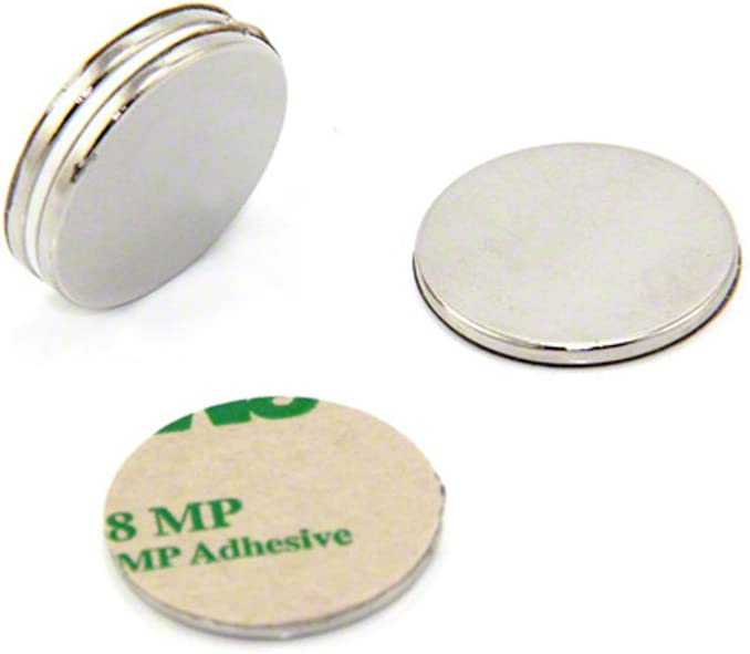 pack de 2 3,5kg force dadh/érence Magnet Expert/® 25mm diam/ètre x 2mm N42 n/éodyme aimant