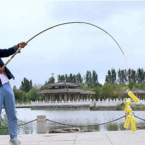 YKWYQ Sea Fishing Rod 2.1m 2.4m 2.7m 3.0m 3.6m Telescopic Fishing Rod Carbon Wooden Handle Spinning Rod Extra Heavy Carp Fishing Pole Sea Tackle