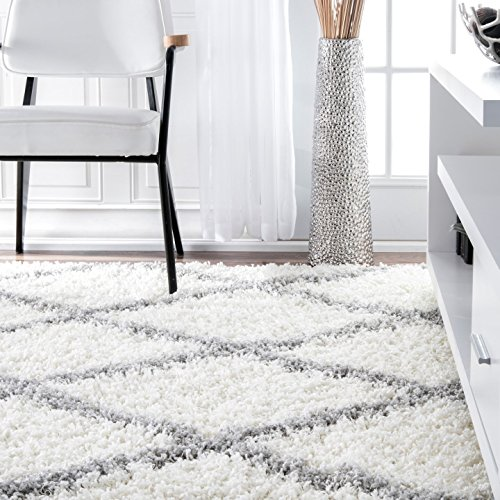 nuLOOM Cozy Soft and Plush Diamond Trellis Shag Area Rug, 8