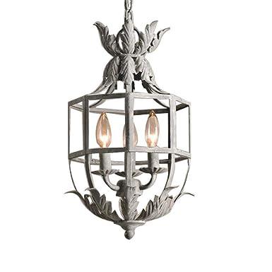 Araña de luces Lámpara de araña francesa Retro Lámpara de ...