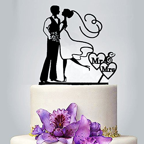 Mr&Mrs Cake Toppers Wedding Party Cake Decorating Acrylic Cake Topper for Special Events By SMYLLS