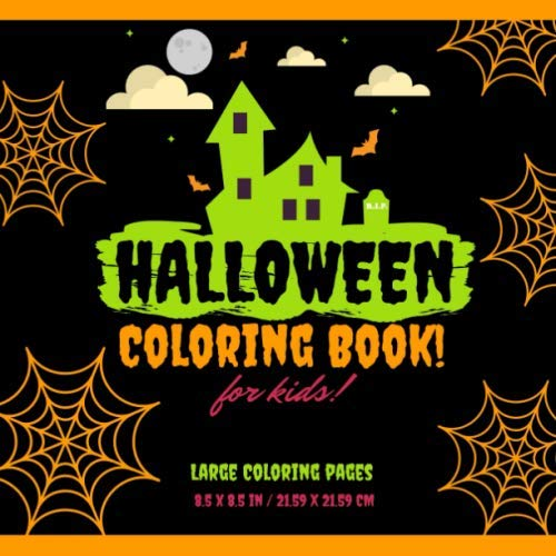 Children's Halloween Colouring Pages (Halloween Coloring Book: Spooky Halloween Coloring Pages for)