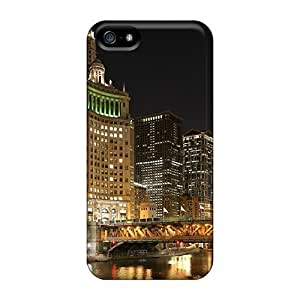 6Plus WcN245Lloy Protective Case For Iphone 5/5s(chicago River Evening) WANGJING JINDA