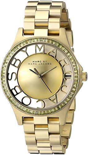 Marc by Marc Jacobs Women s MBM3338 Skeleton Gold-Tone Stainless Steel Bracelet Watch