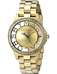 Marc Jacobs Henry MBM3338 Women's Wrist Watches, Gold Dial