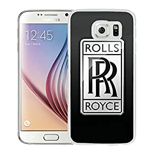 Fashionable And Unique Designed Cover Case With Rolls Royce 2 White For Samsung Galaxy S6 Phone Case