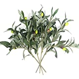 Artificial Olive Plants Branches Fake Fruits Silk