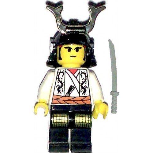 LEGO Castle Theme Minifigure: White Shogun Ninja Warrior with Samurai Helmet and - Warrior Helmet Samurai