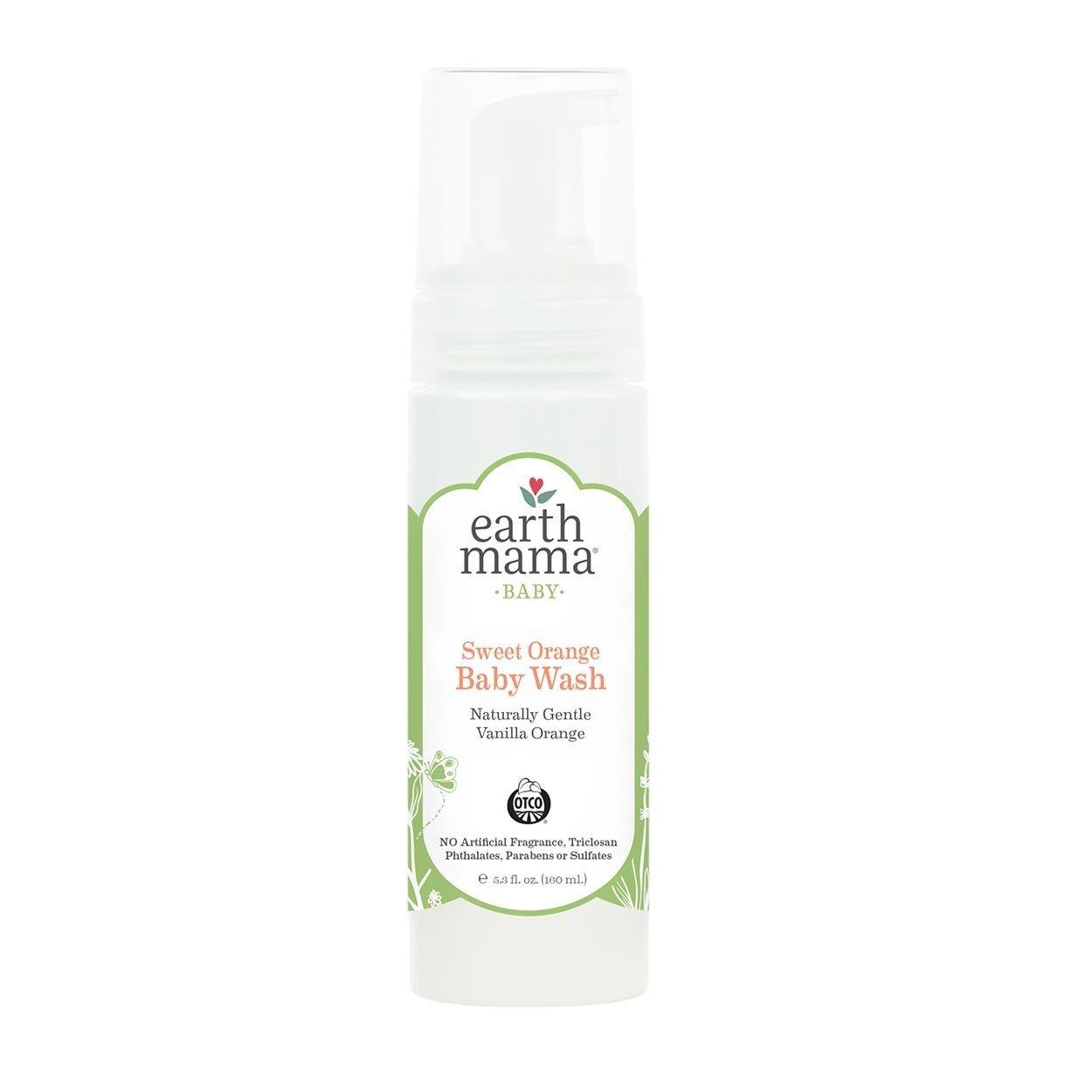Earth Mama Angel Baby Organic Angel Baby Shampoo & Body Wash, 5.3-Ounce Bottles (Pack of 3)