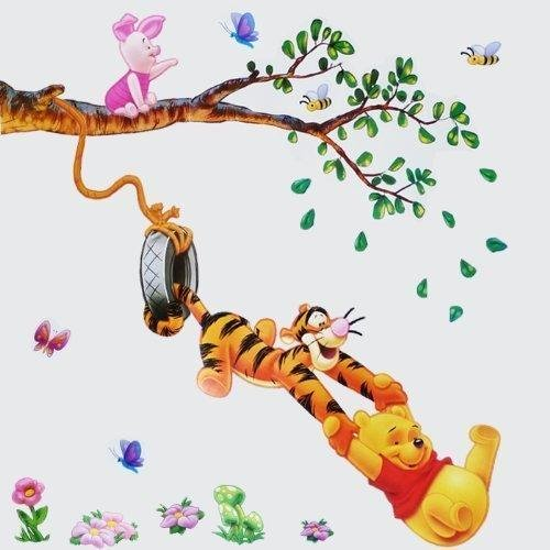 winnie lourson stickers muraux chambre denfant crches amazonfr bbs puriculture - Armoire Bebe Winnie Lourson