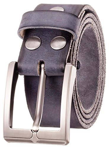 Men's Leather Dressing Belt Casual Belt by Italy First Layer of Cow Leather-1.5