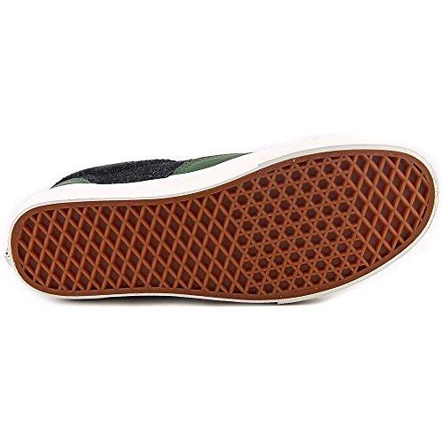Bestelwagens Tijdperk Ca Leer & Wol Zwart Bos / Groen Heren Klassieke Skate Schoenen Maat 10