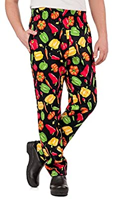 Men's Peppers Print Chef Pant (XS-3X)