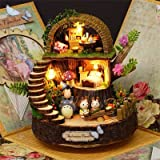 Wall of Dragon Anime Cottages Music Box My Neighbor Totoro Birthday Gift Fantasy Forest Candy Cat Figurine