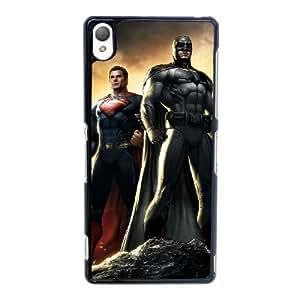 L4D84 Superman vs Batman I8R5EF Funda funda caso de Sony Xperia Z3 teléfono celular cubre DD7VGK9QI negro