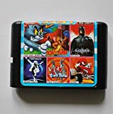 Taka Co 16 Bit Sega MD Game Batman/ Tiny Toon/ Moonwalker/ Sonic/ Tom and Jerry 30-In-1 16 bit MD Game Card For Sega 16bit Game Player