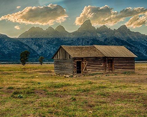 Teton Mountains. Fine art photography print Barns home decor wall art ()