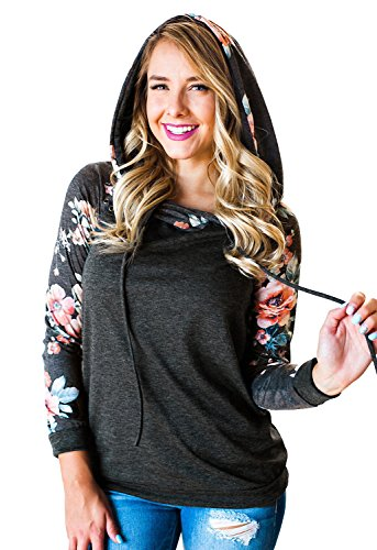 New Floral Women Floral Printed Casual Long Sleeve Sweatshirts Pullover Hoodies