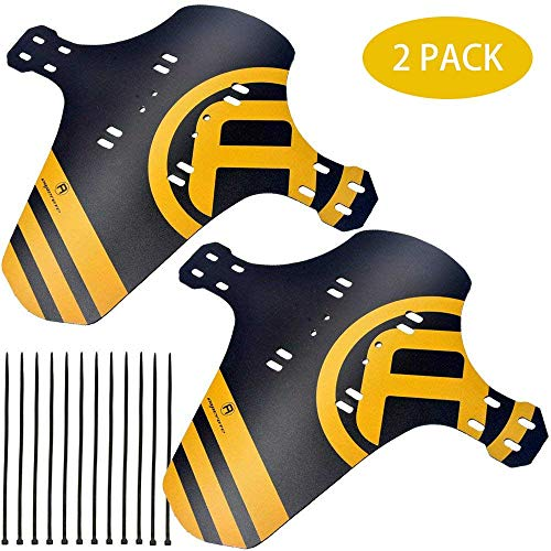 2 Packs Mountain Bike Fenders Quick Release Cycling Fender, Compatible with Front and Rear, Fits 26