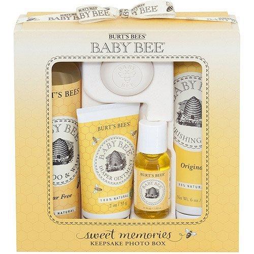 Burt's Bees Baby Bee Sweet Memories Gift Set with Keepsake Photo Box, 5 pc by Burt's Bees