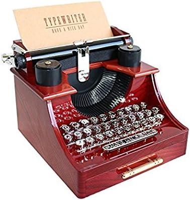 Vintage Music Typewriter Style Gift Jewelry Box with Drawe Music Box Decor