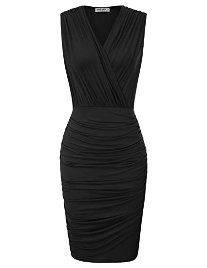 Grace Karin Women Retro Sleeveless Ruched Wrap Party Pencil Dress by Grace Karin