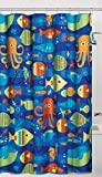 Childrens Fish Shower Curtain Unbranded Sealife Colorful Ocean Fish Fabric Shower Curtain Bath Kids Child Octopus Decor
