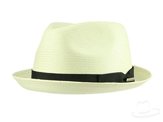 68c0d4af4c4 Stetson Pelham Toyo Player Straw Hat for Women and Men Trilby Men´s hat with