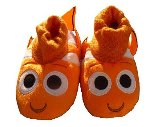 Toddler Clown Shoes (Toddler Little Boys Finding Dory Nemo Clown Fish Plush Slipper (Little Boys US)