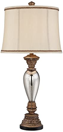 Alsace Mercury Glass Table Lamp Amazon Com
