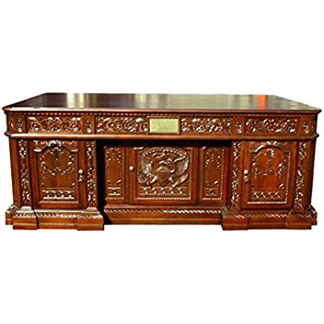 D ART Presidential Executive Office Desk In Mahogany Wood