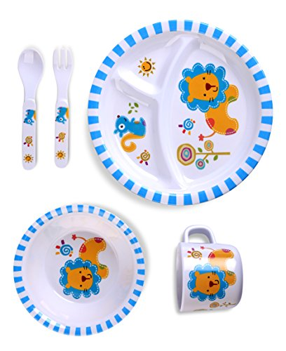 Culina Kids Melamine Dinnerware ...  sc 1 st  Blue Berry Baby Store & Culina Kids Melamine Dinnerware Set In 5 Fun Designs u2013 Blue Berry ...