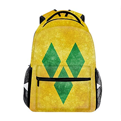 Price comparison product image Backpacks Female knapsack Daypack Lightweight College Bags School Bookbag Casual fashion Flag Of Saint Vincent And The Grenadines Backpacks
