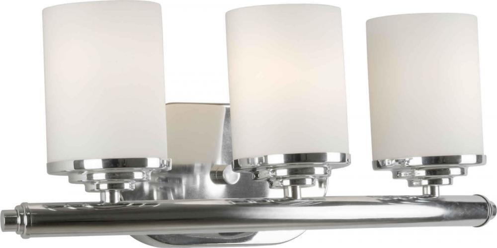 3つライトクロームサテンオパールガラスVanityモデル – 5105 – 03 – 05 B00ZASU2VY