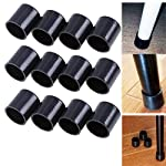 Whosee 12-Pack Table Chair Leg Caps Feet Covers Pads Furniture Protector Plastic Non-slip Round