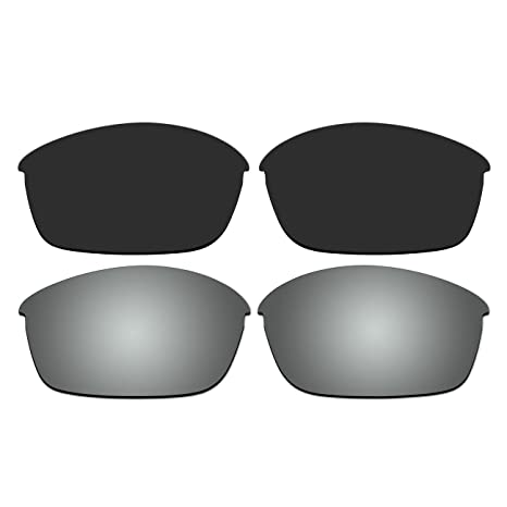 4510199193 Amazon.com  ACOMPATIBLE Replacement Polarized Black and Titanium Lenses for Oakley  Flak Jacket Sunglasses  Sports   Outdoors