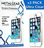 iPhone 5s Screen Protector also for iPhone 5, 5c High Definition (HD) Ultra Clear [3 Packs] with Microfiber Cleaning Cloth