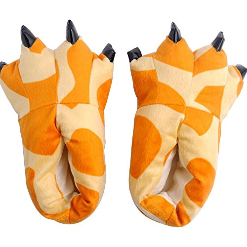 Winter Cartoon Color Plush Soft Claws Shoes Female Home 9 Flannel Slippers Eastlion Super Dinosaurs Warm 8TqfwnH5