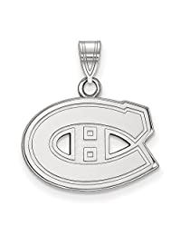 Beautiful Sterling silver 925 sterling Sterling Silver Rh-plated NHL LogoArt Montreal Canadiens Small Pendant comes with a Free Jewelry Gift