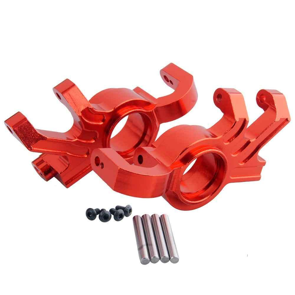 Toyoutdoorparts RC TRA 7737 Upgrade Red Alum Steering Blocks L/R for Traxxas X-MAXX Truck by Toyoutdoorparts (Image #1)