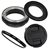 Fotodiox RB2A 72mm Macro Reverse Ring Kit w/Nikon G & DX Lens Aperture Control, Lens Cap & 52mm UV Protector