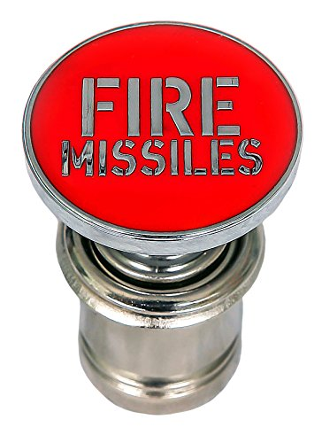 Fire Missiles Button Car Cigarette Lighter Replacement 12V Accessory Push Button Fits Most Automotive Vehicles (Red) ()