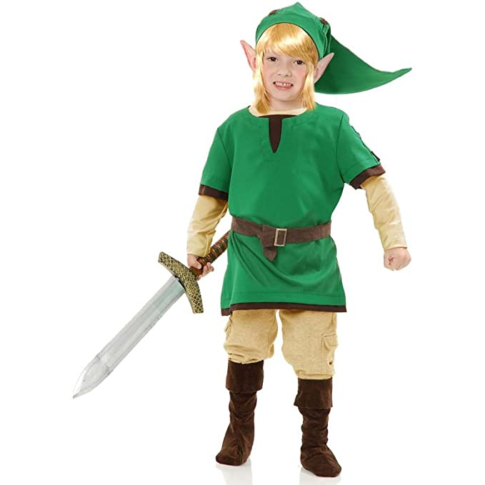 Amazon.com: Charades Child\'s Elf Warrior Costume, Green, Toddler ...