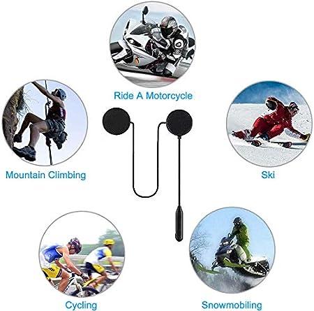 2Pcs Casque Bluetooth de Moto R/éponse Automatique Casques de Moto BT pour Moto Oreillette Bluetooth St/ér/éo de Musique de Moto