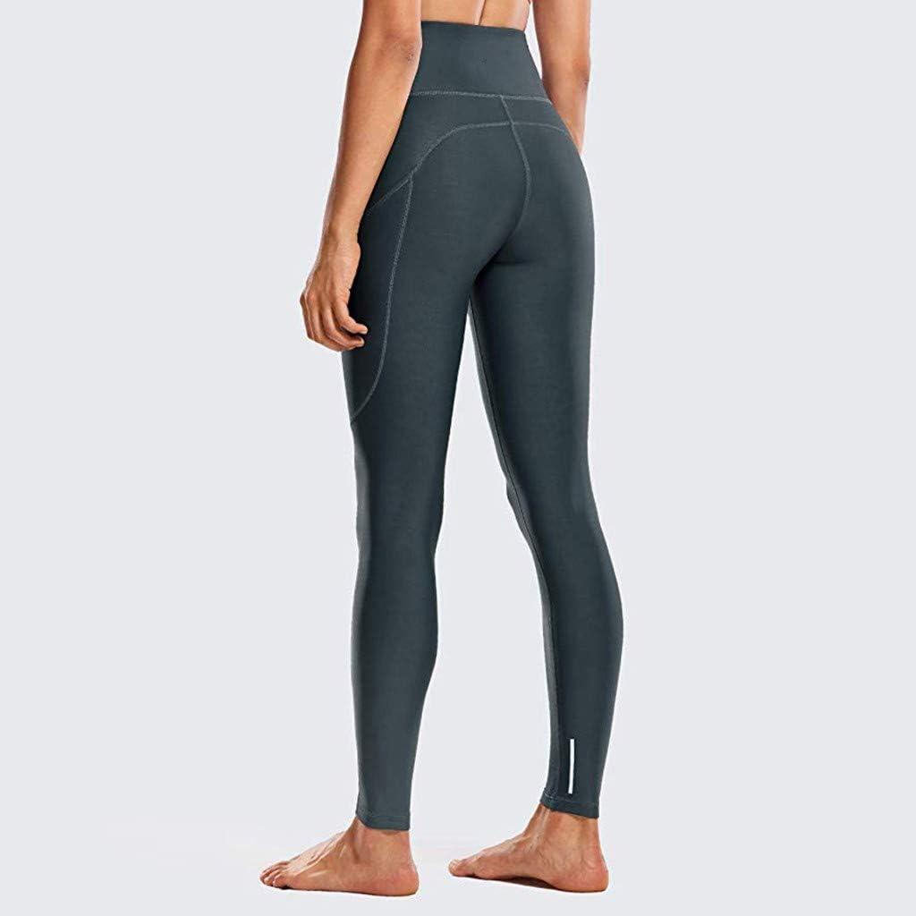 Kiyotoo Yoga Pants for Women High Waist Tummy Control Non See-Through Workout Pants with Side Phone Pocket Yoga Capris