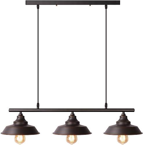 Black Pendant Lighting Kitchen Island Light Baking Paint Finish with Highlights Rustic Lighting Modern Industrial Chandelier