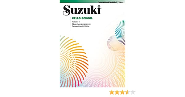 Amazon com: Suzuki Cello School, Vol  6: Piano